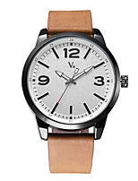 V6 Men's Dress Watch Fashion Watch Japanese Quartz Water Resistant / Water Proof Leather Band Cool Casual Minimalist Black Brown