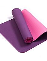 Йога коврики Экологию Без запаха Толстые 6 мм Фиолетовый Other