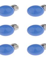 3W E27 Lâmpada Redonda LED G45 6 LED Dip 250 lm Vermelho Azul Amarelo Decorativa AC220 V 6 pçs