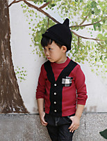 Boy's Casual/Daily Patchwork Hoodie & SweatshirtCotton Fall Purple / Red / Yellow / Gray