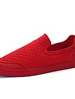 Белый Черный Красный-Для мужчин-Повседневный-Ткань-На плоской подошве-Светодиодные подошвы-Мокасины и Свитер