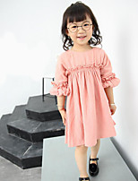 Girl's Casual/Daily Solid Dress / Overall & JumpsuitCotton Spring / Fall Blue / Pink