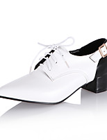 Women's Shoes Heels Spring Summer Fall Comfort Leatherette Office & Career Casual Chunky Heel Lace-up