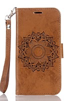 Full Body Mandala Embossed Leather Wallet for Google Pixel Pixel XL