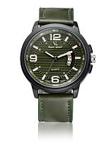 V6 Муж. Нарядные часы Модные часы Японский Кварцевый Защита от влаги PU Группа Cool Повседневная Черный Оранжевый Зеленый