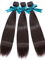 Человека ткет Волосы Бразильские волосы Прямые 12 месяцев 3 предмета волосы ткет