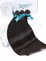 Natural Color Hair Weaves Peruvian Texture Straight 12 Months 3 Pieces hair weaves