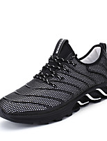 גברים-נעלי אתלטיקה-טול דמוי עור-נוחותשטח יומיומי ספורט-עקב שטוח