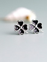 Stud Earrings Jewelry Sterling Silver Black Jewelry For Daily Casual 1 pair