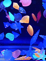 Aquarium Decoration Noctilucent Stone Random Colors 3*8pcs