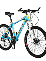 Mountain Bike Cycling 27 Speed 26 Inch/700CC Unisex Adult SHIMANO Disc Brake Suspension Fork Aluminium Alloy Frame Ordinary/Standard