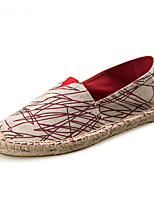 Unisex Loafers & Slip-Ons Moccasin Espadrilles Light Soles Canvas Cotton Summer Fall Casual Office & Career Party & EveningMoccasin