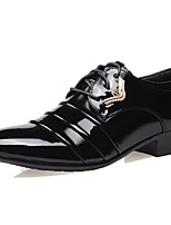 Men's Oxfords Formal Shoes Patent Leather Fall Winter Party & Evening Dress Formal Shoes Black 1in-1 3/4in