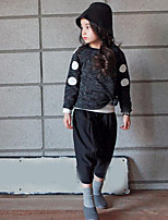 Girl's Casual/Daily Solid TeeCotton Summer / Spring Black