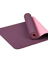 TPE Йога коврики Экологию Без запаха 6 мм Розовый Желтый Оранжевый Фиолетовый Небесно-голубой Other