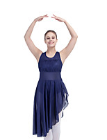 Nylon/Lycra Mesh Halter Leotard Skirts Latin Dress Jazz Dance Ballet Dancewear More Colors for Girls and Ladies