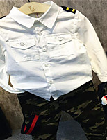 Boy's Casual/Daily Embroidered ShirtCotton Spring / Fall White