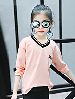 Going out Color Block Tee,Cotton Summer Spring Fall