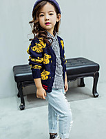 Girl's Casual/Daily Animal Print Sweater & CardiganCotton Spring / Fall Blue