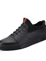 Men's Sneakers Spring Fall Winter Comfort Patent Leather Outdoor Office & Career Casual Flat Heel Black