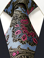 PXL31 New Men Neckties Extra Long 63 Blue Abstract 100% Silk Handmade Casual Fashion Business Dress