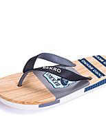 Для мужчин Мокасины и Свитер Удобная обувь ПВХ Весна Лето Для прогулок Для офиса Повседневный На плоской подошве Серый Красный СинийНа
