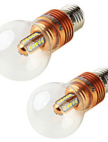 5W E27 Lâmpada Redonda LED A60(A19) 25 SMD 2835 450 lm Branco Quente Decorativa V 2 pçs