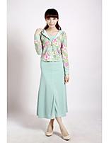 Spot real shot chart recreational sports sweater dress two-piece suit Korean Floral