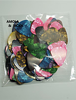AMOLA 100pcs Acoustic Electric Guitar Celluloid Picks Plectrum Multicolor Thickness 0.71mm Instruments Parts Accessories