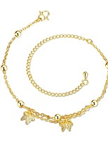 Anklet/Bracelet Bowknot Fashion Punk Hip-Hop Copper Gold Plated Gold Women's Jewelry 1pc