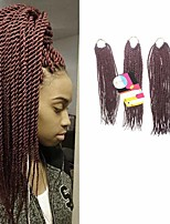 Senegal Twist  #99J Synthetic Hair Braids 18inch 20inch 22inch Kanekalon 81 Strands 200g  Multipal Pack for Full Heads