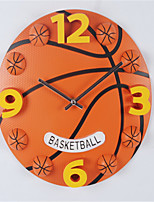 1pc  Watch Football Basketball Fitness Activity The Boy'S Bedroom Children'S Room Wall Clock Creative 3D Cartoon Wall Clock