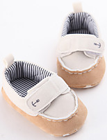 Baby Flats Spring Fall First Walkers Leatherette Outdoor Casual Low Heel Lace-up White Pink Light Brown Walking