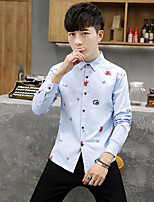 2017 Spring and Autumn new printed version of the influx of men's casual shirt long-sleeved shirt Slim Youth