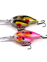 2 pcs Hard Bait Random Colors 18 g Ounce mm inch,Metal Plastic General Fishing