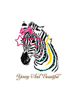Wall Stickers Wall Decals Style Beautiful Zebra PVC Wall Stickers