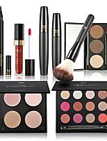 Тени Туши Карандаши для глаз Продукты для бровей+Блески для губ+Кисти для макияжа Глаза Лицо Губы