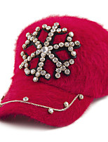зима чистый цвет кролика ручной росписью горный хрусталь снежинка узор бейсбол теплая шапка ЖЕНСКИЕ