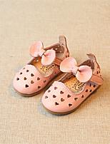 Белый Черный Розовый-Дети-Для прогулок Повседневный-Дерматин-На низком каблуке-Обувь для малышей-На плокой подошве