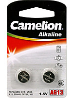 Camelion AG13 Coin Button Cell Alkaline Battery 1.5V 2 Pack