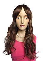 Deep Wave Wig Golden Brown Synthetic Fiber Women Wig Costume Cosplay Wig