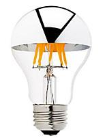 1PCS 6W B22/E27 Half Silver LED Filament Bulbs G60 6 COB 600 lm Warm White Dimmable AC 220-240 AC 110-130 V