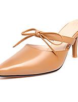 Bureau & Travail Habillé Soirée & Evénement-Blanc Kaki-Talon Aiguille-club de Chaussures-Chaussures à Talons-Cuir