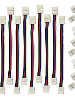 ZDM 5pcs быстрое разветвитель разъема 10мм форме буквы L. 5 проводника для 5050 WRGB с 10pcs 5050 WRGB полосы света разъема