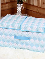 Storage Boxes Storage Bags Storage Units Textile withFeature is Lidded  For Underwear Cloth Double Cover Storage Box Random Pattern And Color