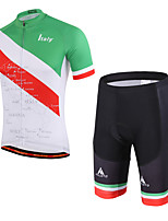Miloto Maillot et Cuissard de Cyclisme Unisexe Manches courtes VéloRespirable Séchage rapide La peau 3 densités Bandes Réfléchissantes