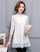 2017 våren nya kvinnor&# 39; s spets skjorta kvinnliga långärmad tröja koreanska smal var tunna och långa sektioner bottna skjortan