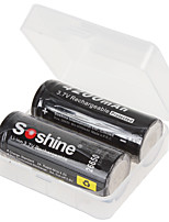 Soshine 2PCS 26650 3.7V 4200mAh Rechargeable Lithium Li-ion Battery  with Battery Case