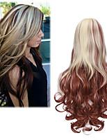vague corps brun avec grande longueur de mode couleur perruque blonde synthétique quotidienne pour les femmes perruque