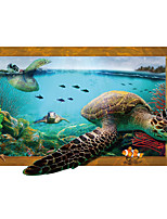 Animales Paisaje 3D Pegatinas de pared Calcomanías de Aviones para Pared Calcomanías 3D para Pared Calcomanías Decorativas de Pared,Vinilo
